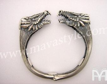 Sterling Silver Dragon Bracelet en Argent Jewelry Bijou