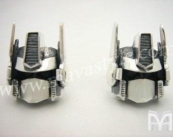 Sterling Silver Optimus Prime Cufflinks