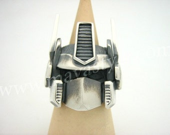 Sterling Silver Optimus Prime Ring