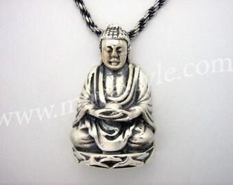 Sterling Silver Buddha Pendant Chain Pendentif Bouddha