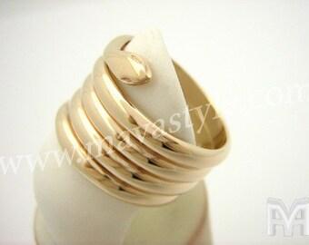 Yellow Gold Snake Python Ring - Bague de Serpent en Or
