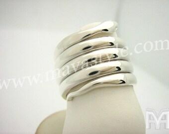 White Gold Snake Python Ring - Bague de Serpent en Or