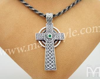 Sterling Silver Irish Cross Pendant