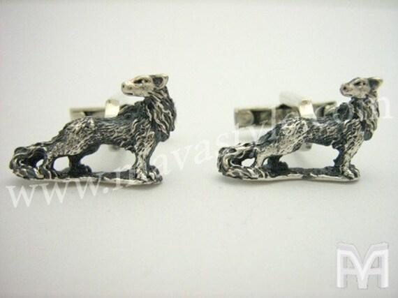 Sterling Silver Werewolf Wolf Cufflinks