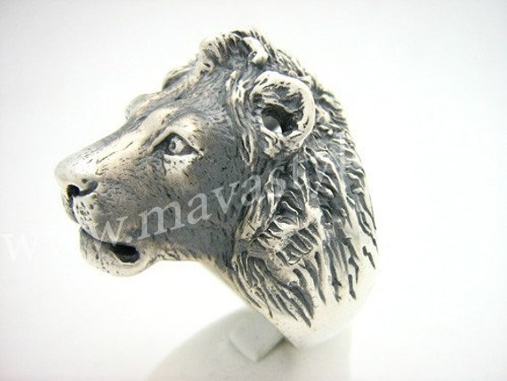 Sterling Silver King Lion Ring