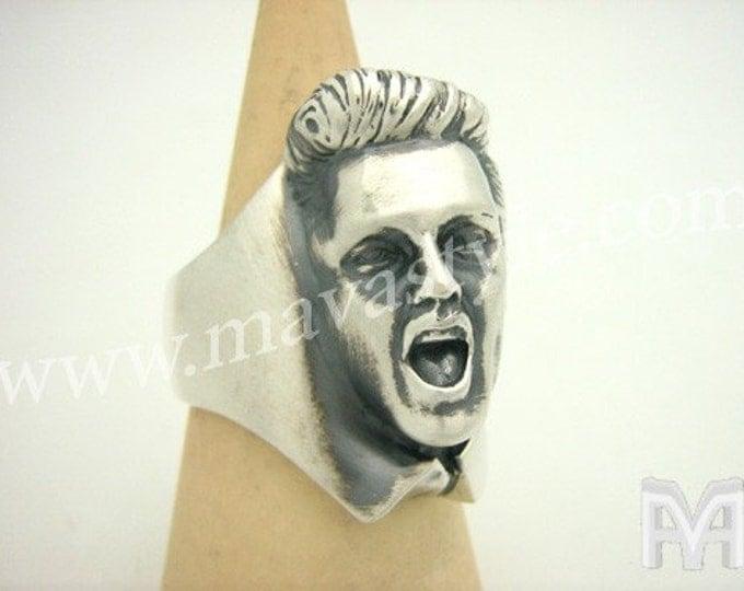 Sterling Silver Elvis Presley Ring