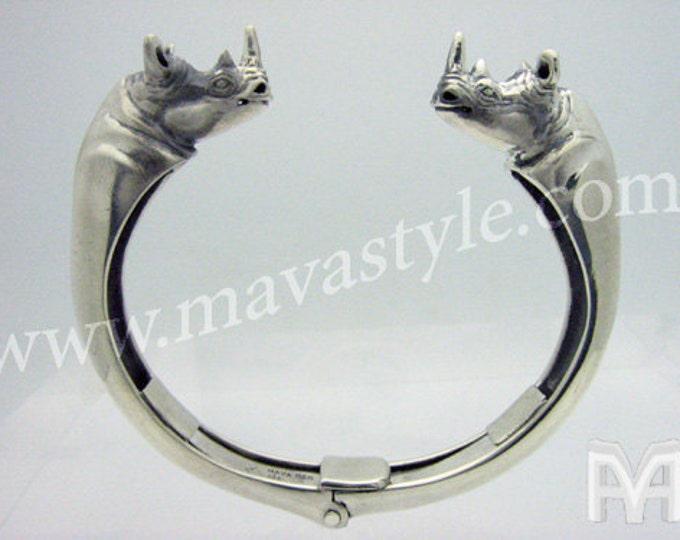 925 Sterling Silver Rhinoceros Bracelet
