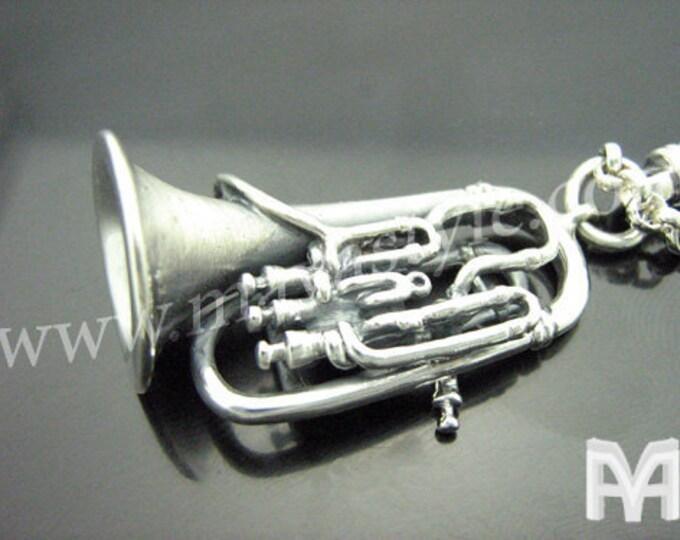 Sterling Silver Tuba Keychain