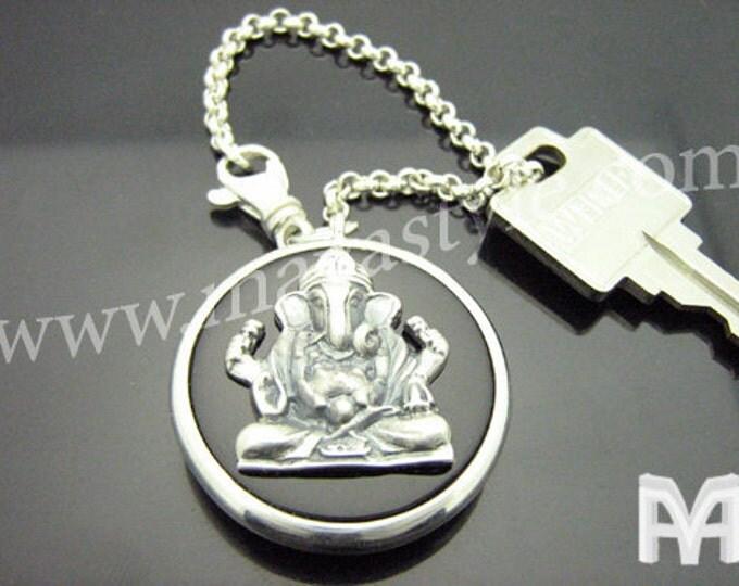 Sterling Silver Ganesh Keychain