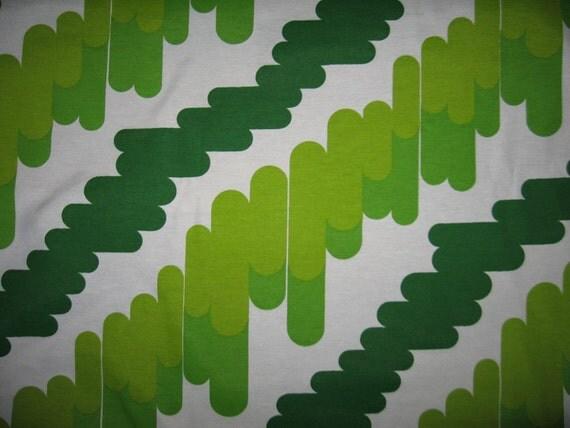Amazing atomic vintage European cotton fabric NOS green lime eames panton mod vibe mcm 2 yards available