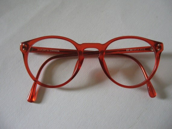 RESERVED for SWD-Vintage Sunjet by Carrera glasses red retro 80s hipster geekery unisex