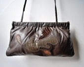 Convertible Clutch With Leather Applique