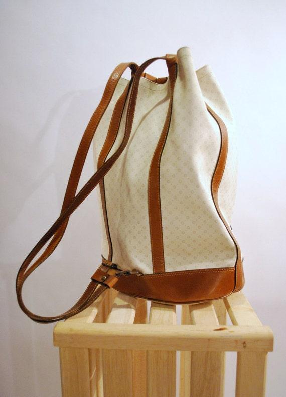 Vintage Duffle Style Backpack