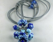 Sky Blue Long Necklace - fhfteam Y3 UK Handmade by Blue Kiln Beads