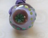 Glass Pendant Necklace - fhfteam Y3 UK Handmade by Blue Kiln Beads SRA G110