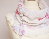 Nuno Felt Cowl With Lace-up Natural White Handmade by frenchfelt on Etsy