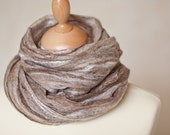 Felted Scarf Cobweb Shawl Luxury Stole Alpaca Baby Camel Silk Forest Fairy woodland natural brown chocolate beige eco friendly