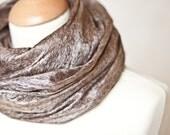 Cobwel Lace Scarf Felt Shawl Silk Baby Alpaca Coffee natural brown chocolate beige eco friendly
