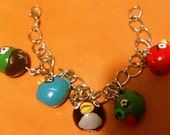 Aggravated Fowl Dangly Charm Bracelet