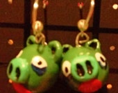 Aggravated Fowl Dangly Charm Earrings