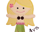 Hula Girl Applique Design