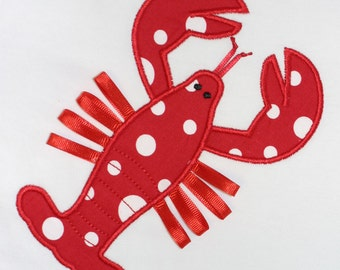Lobster Applique Design