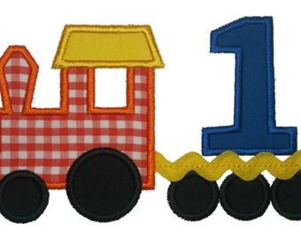 Train Numbers Applique Designs 164
