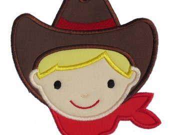 Cowboy Applique Design