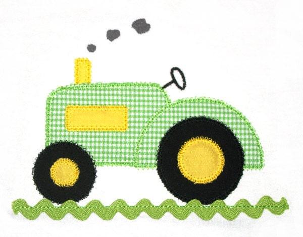 John Deere Applique Embroidery Design : Tractor applique design with ric rac