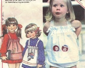 Raggedy Ann and Andy Dress Pattern McCall's 5650 12 Months 1 Year