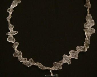 Onyx Cross Necklace