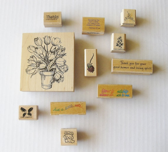 Rubber Stamps - Collection of 11