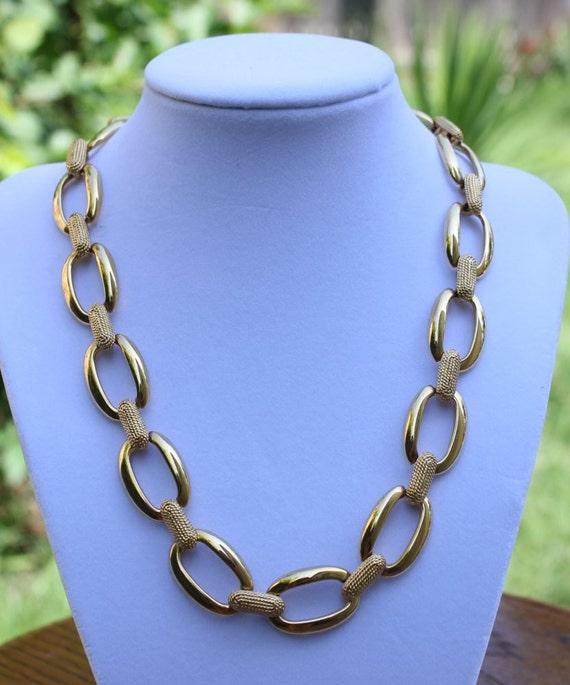 Vintage Napier Gold Chain Necklace