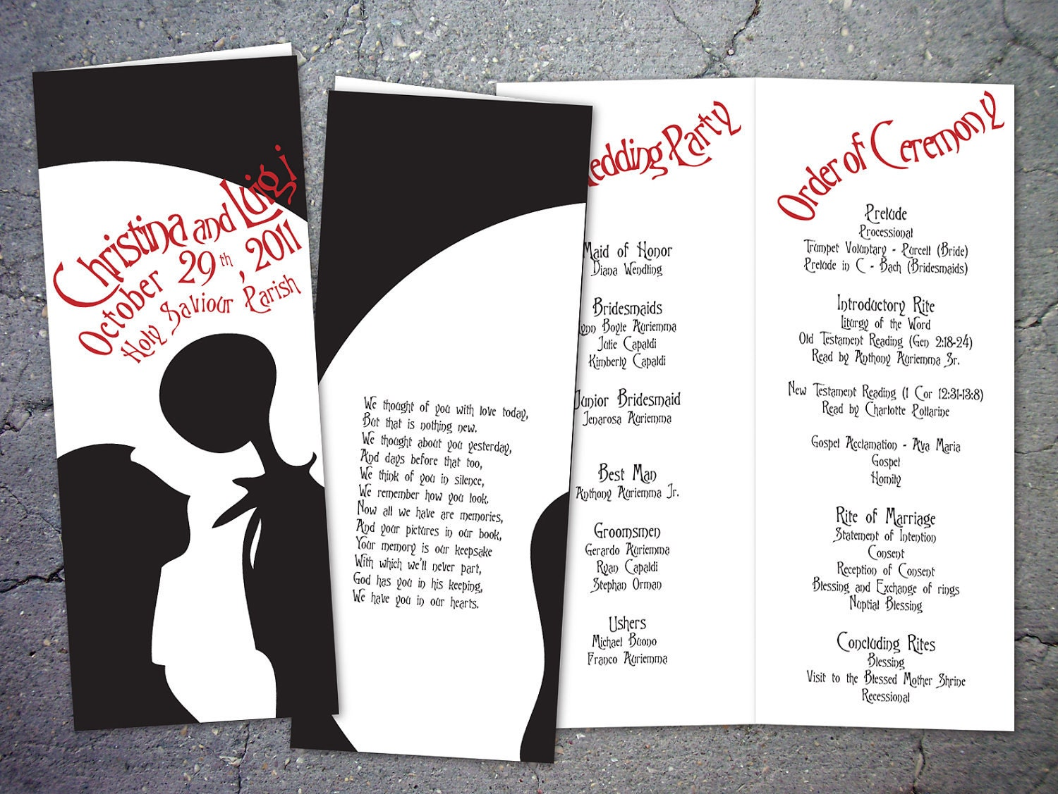Christmas Wedding Invites: 10 Nightmare Before Christmas Inspired Wedding By Papercrew