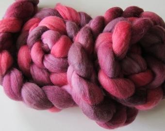 Polwarth silk spinning top NiKki 4 oz, roving