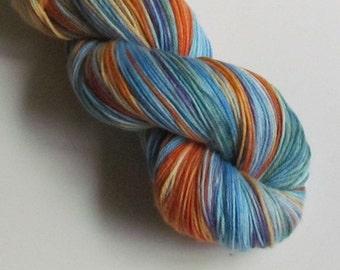 POSH II Merino, cashmere, nylon fingering yarn, Pulling at Strings