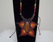 SUNFLOWER macrame necklace