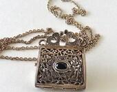 Vintage Purse Locket Necklace