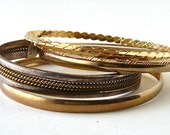 6 Silver and Gold Bangles