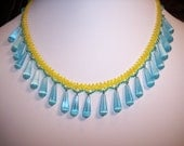 RESERVED FOR JACKIE..Handmade Fiber Optic Glass Necklace