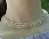 Swarovski Crystal AB Collar Bride's Wedding Necklace