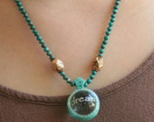 Texas Dreamin' Crystal Ball and Turquoise Necklace with Copper