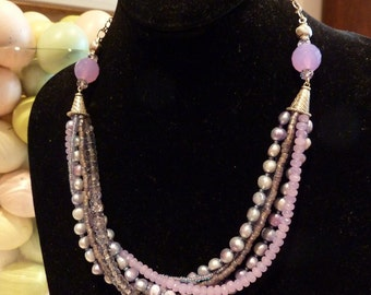 Layers of Lavender Necklace