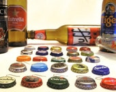 25 Recycled bottle caps earrings in wholesale