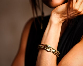Snake Bangle - Ouroboros - Bangle Snake - Stacking Bracelet - Snake Jewelry - Snake Bracelet