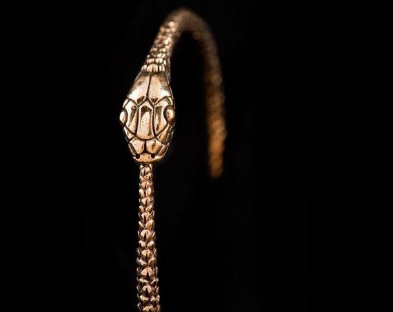 Snake Bangle -  Ouroborus Bangle - Snake Jewelry -  Gold Snake Bangle