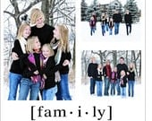 """Personalized Photo Printed on Canvas with text 15"""" x 15"""""""