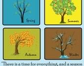 """15"""" x 15"""" Ecclesiastes 3:1 Bible Verse Printed Canvas"""