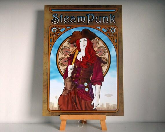 SteamPunk - An Airship Pirates Poster