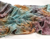 Hand Dyed Bamboo Velour Cuddle Blanket in Elation
